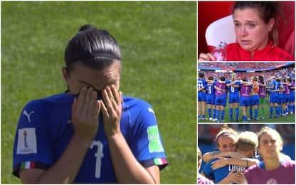 Azzurre out, lacrime e orgoglio a fine gara. VIDEO