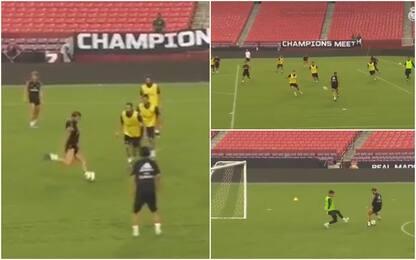 Ramos, allenamenti super ... da attaccante! VIDEO