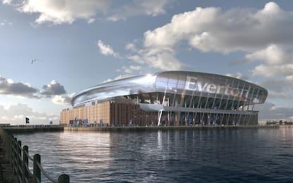 Everton, un nuovo stadio in riva al fiume: le FOTO