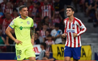 Morata-gol, l'Atletico parte bene: 1-0 al Getafe