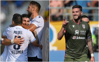 Bologna rimonta 4-3 a Brescia. Cagliari ok a Parma