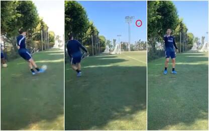 Ibra, altra magia: gol da dietro la linea. VIDEO