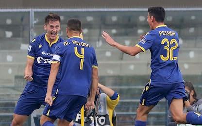 Il Verona inguaia la Samp: al Bentegodi è 2-0