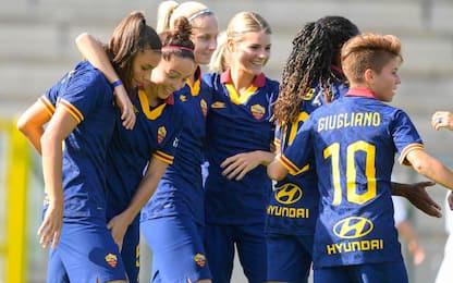 Serie A femminile: poker Roma, vince il Sassuolo