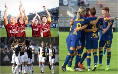 Donne: Milan e Juve a punteggio pieno, poker Roma
