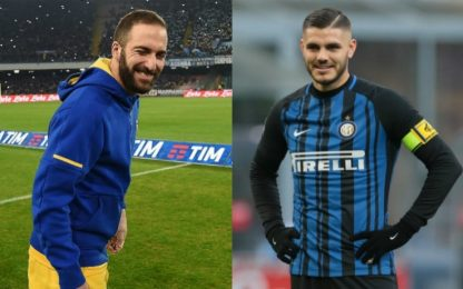 "Caressa: ""Higuain meglio di Icardi, attenta Inter"""