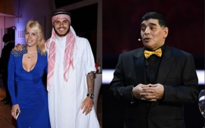 Maradona-Icardi, stavolta è Wanda contro Gianinna
