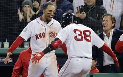 World Series, gara-1: Boston-Los Angeles 8-4