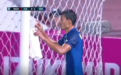 Thailandia, Kraisorn show: segna 6 gol con 6 tiri