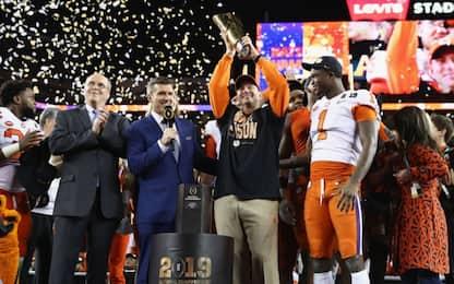 College Football USA, Clemson conquista il titolo
