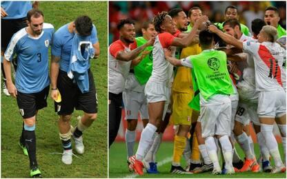 Suarez tradisce l'Uruguay, il Perù in semifinale