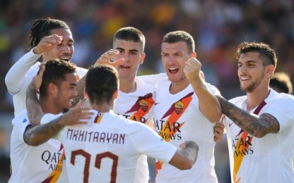 La Roma torna a vincere, 1-0 a Lecce firmato Dzeko