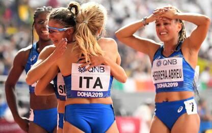 4x100 donne in finale e a Tokyo, uomini beffati