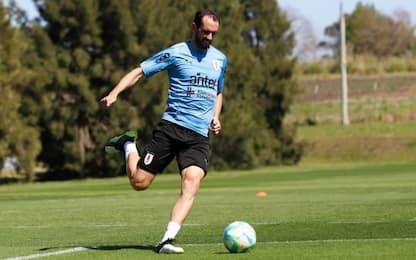 Conte sorride, Godin si allena con l'Uruguay