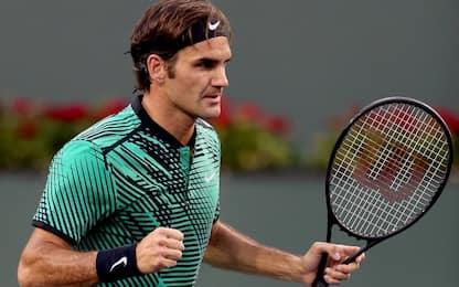Indian Wells, Federer in semifinale con Sock