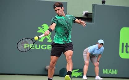 Miami Open, Federer è troppo anche per Del Potro