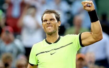 Miami Open, 1000^ partita di Nadal col brivido