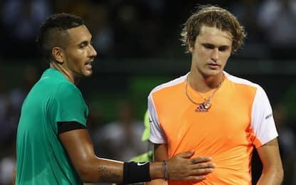 Miami 2017, Kyrgios batte Zverev e trova Federer