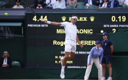 Federer no problem, batte Raonic ed è in semi
