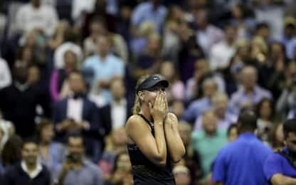 US Open, Sharapova: riscatto e lacrime, Halep ko