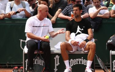 Djokovic-Agassi_getty