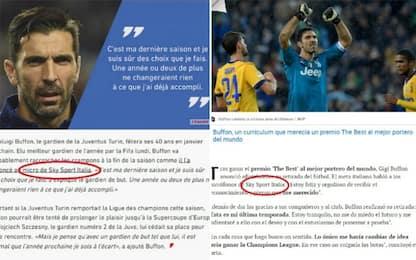 Buffon annuncia ritiro a Sky, l'Europa ne parla