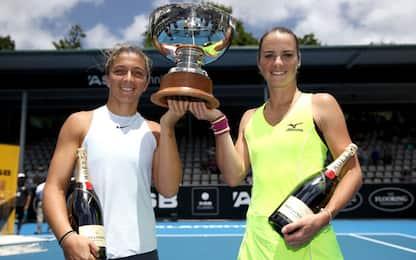 WTA Auckland, trionfo in doppio di Sara Errani