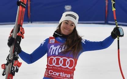Super Goggia, vince anche la libera di Cortina