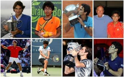 Federer, 15 anni più di Chung: il confronto