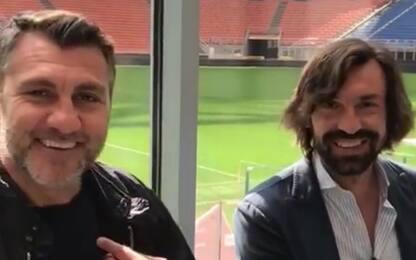 """Bobo imita Pirlo: """"Venite alla Notte del Maestro!"""""""
