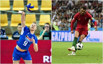"""Zaytsev sfida Ronaldo: """"Chi tira più forte?"""""""