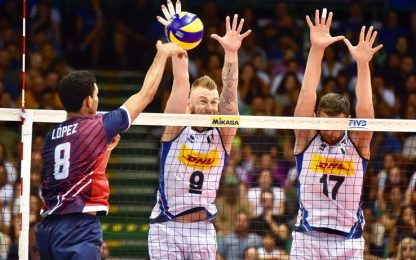 Mondiali volley: poker Italia, Rep. Dominicana ko