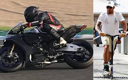 Hamilton cambia sport? Prova una Yamaha a Jerez