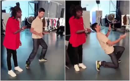 Djokovic a scuola di Michael Jackson. VIDEO