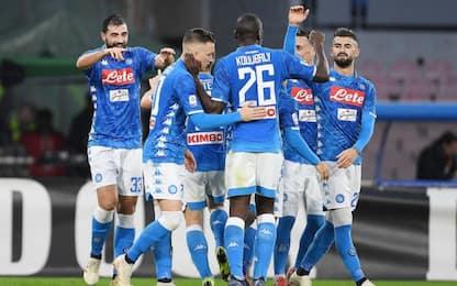 Albiol-Meret, il Napoli non molla: 1-0 alla Spal