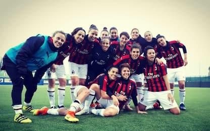 Serie A donne, Milan-Verona 2-0 nel posticipo