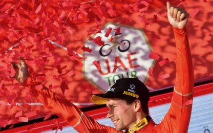 Uae Tour, Roglic conquista la classifica generale