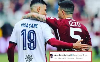 """Abbraccio Pisacane-Izzo, D'Angelo: """"Orgoglioso"""""""