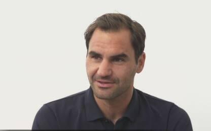 """Federer a Sky: """"Roma la mia città preferita"""""""