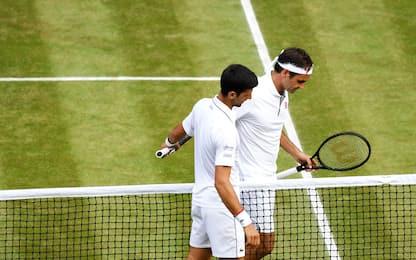 Federer-Djokovic, sui social si celebra il Tennis