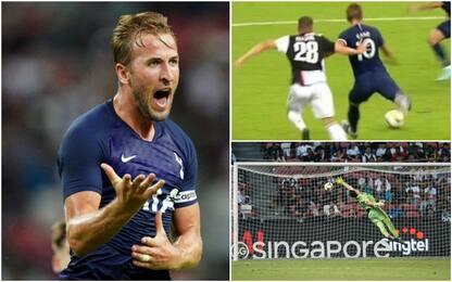 Meraviglia Kane: gol da centrocampo alla Juve