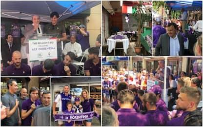 Fiorentina, bagno di folla al Bronx. VIDEO