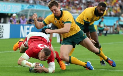 Mondiali, super Galles: Australia battuta 29-25