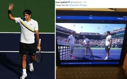 Federer vince, Ljubicic lo guarda con My Sky