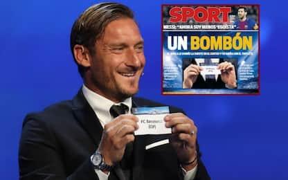 """Totti: """"Barça diceva bon bon? Ne abbiamo fatti 3"""""""