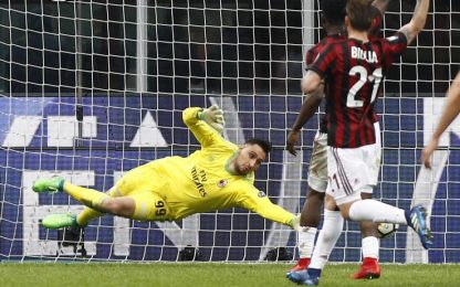 Donnarumma stoppa Milik, Milan-Napoli è solo 0-0
