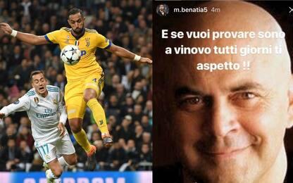 """Benatia duro contro Crozza: """"Ti aspetto a Vinovo"""""""
