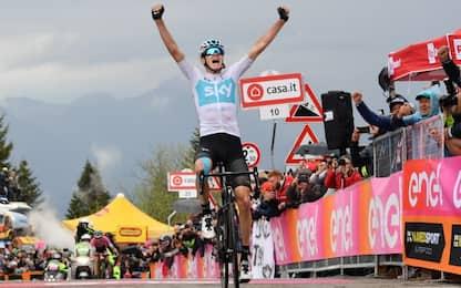 Giro: sullo Zoncolan trionfa Froome, Yates in rosa
