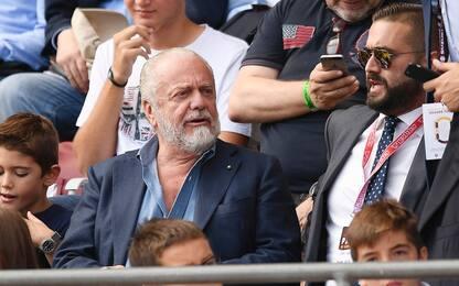 """De Laurentiis: """"Ancelotti può restare 6 anni"""""""
