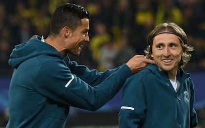 """Modric: """"Cristiano Ronaldo è più forte di tutti"""""""